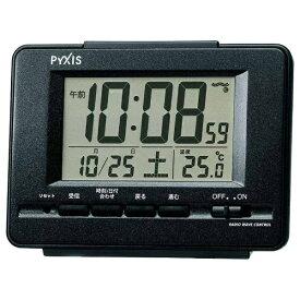 セイコー SEIKO 目覚まし時計 黒メタリック NR535K [デジタル /電波自動受信機能有]