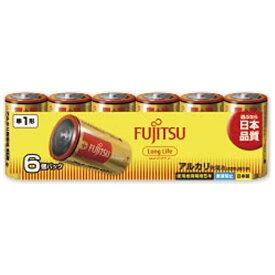 富士通 FUJITSU LR20FL-6S 単1電池 LongLife(ロングライフ) [6本 /アルカリ][LR20FL6S]