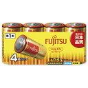 富士通 FUJITSU LR20FL-4S 単1電池 LongLife(ロングライフ) [4本 /アルカリ][LR20FL4S]