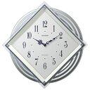 【送料無料】 リズム時計 電波掛け時計 「ビュレッタ」 4MX405SR03(白パール)