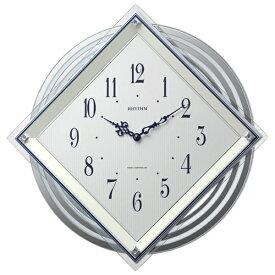 リズム時計 RHYTHM 掛け時計 【ビュレッタ】 4MX405SR03 [電波自動受信機能有][4MX405SR03]