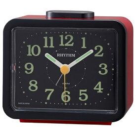リズム時計 RHYTHM 目覚まし時計 ジャプレSR859 赤(黒) 4RA859SR01 [アナログ]