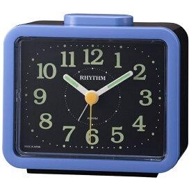 リズム時計 RHYTHM 目覚まし時計 ジャプレSR859 青(黒) 4RA859SR04 [アナログ]