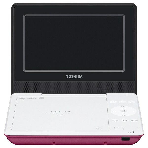 【送料無料】 東芝 7V型 ポータブルDVDプレーヤー SDP710S-P(ピンク)