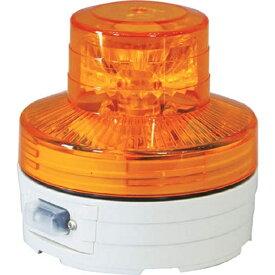 日動工業 NICHIDO 電池式LED回転灯ニコUFO 常時点灯タイプ 黄 NUAY