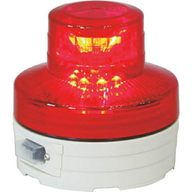 日動工業 NICHIDO 電池式LED回転灯ニコUFO 常時点灯タイプ 赤 NUAR