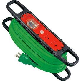 日動工業 NICHIDO ハンドリール 100V 3芯×10m 緑 アース過負荷漏電しゃ断器付 HREK102G