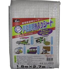 ユタカメイク YUTAKA シート UV透明糸入りシート 1.8m×2.7m B309