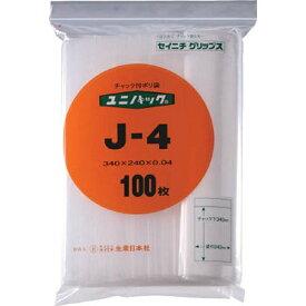 生産日本社 SEISANNIPPONSHA 「ユニパック」 J-4 340×240×0.04 100枚入 J4