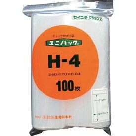 生産日本社 SEISANNIPPONSHA 「ユニパック」 H-4 240×170×0.04 100枚入 H4