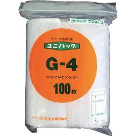 生産日本社 SEISANNIPPONSHA 「ユニパック」 G-4 200×140×0.04 100枚入 G4