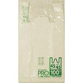 日本サニパック SANIPAK Y-8Hレジ袋乳白45/45号 Y8HW (1袋100枚)