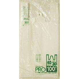 日本サニパック SANIPAK Y-6Hレジ袋乳白30/40号 Y6HW (1袋100枚)