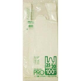 日本サニパック SANIPAK Y-4Hレジ袋乳白20/35号 Y4HW (1袋100枚)