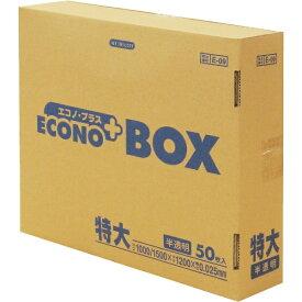 日本サニパック SANIPAK E-09エコノBOX特大半透明 50枚 E09HCL