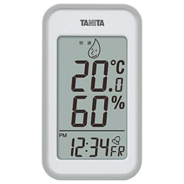 タニタ デジタル温湿度計 TT-559(グレー)[TT559]