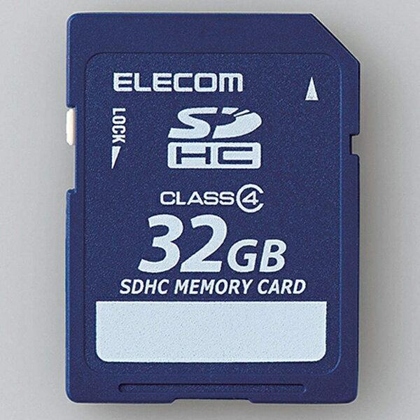 【送料無料】 エレコム 32GB・Class4対応 データ復旧サービス付きSDHCカード MF-FSD032GC4R[MFFSD032GC4R]