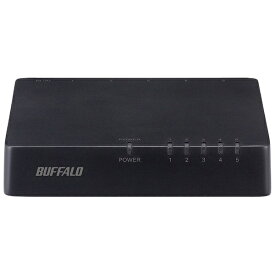 BUFFALO バッファロー スイッチングハブ[5ポート・100/10Mbps・ACアダプタ] プラスチック筐体 LSW4-TX-EP/Dシリーズ ブラック LSW4-TX-5EP/BKD[LSW4TX5EPBKD]