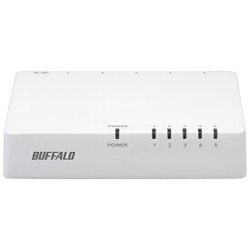 BUFFALO バッファロー スイッチングハブ[5ポート・100/10Mbps・ACアダプタ] プラスチック筐体 LSW4-TX-EP/Dシリーズ ホワイト LSW4-TX-5EP/WHD[LSW4TX5EPWHD]