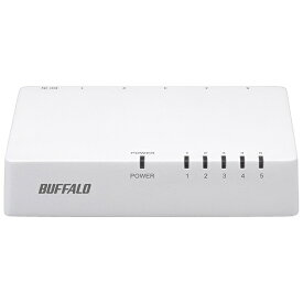 BUFFALO バッファロー スイッチングハブ[5ポート・100/10Mbps・ACアダプタ] プラスチック筐体 LSW4-TX-EP/Dシリーズ ホワイト LSW4-TX-5EPL/WHD[LSW4TX5EPLWHD]