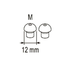 オムロン OMRON AK-22用 耳栓M AK-EACP-M 2個入[AKEACPM]