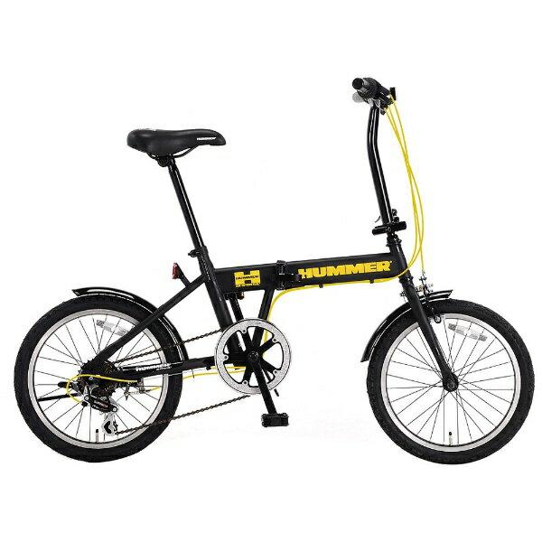【送料無料】 ハマー 18型 折りたたみ自転車 HUMMER FDB186 IW-II(マットブラック/6段変速) HMFDB186IW2【組立商品につき返品不可】 【代金引換配送不可】