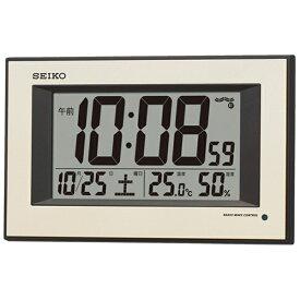 セイコー SEIKO 掛け置き兼用時計 薄金色パール SQ438G [電波自動受信機能有][SQ438G]