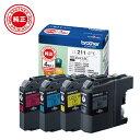 ブラザー brother LC211-4PK 【ブラザー純正】インクカートリッジ4色パック LC211-4PK 対応型番:DCP-J968N、DCP-J767N、DCP-J567N、MFC-J887N