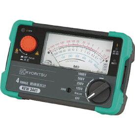 共立電気計器 KYORITSU 4レンジアナログ絶縁抵抗計 KEW3442《※画像はイメージです。実際の商品とは異なります》