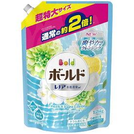 P&G ピーアンドジー Bold(ボールド)ジェル フレッシュピュアクリーンの香り つめかえ用超特大サイズ 1260ml〔衣類洗剤〕