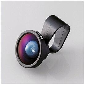 エレコム ELECOM セルカレンズ 0.4倍広角レンズ スーパーワイド(ブラック) PSL04BK