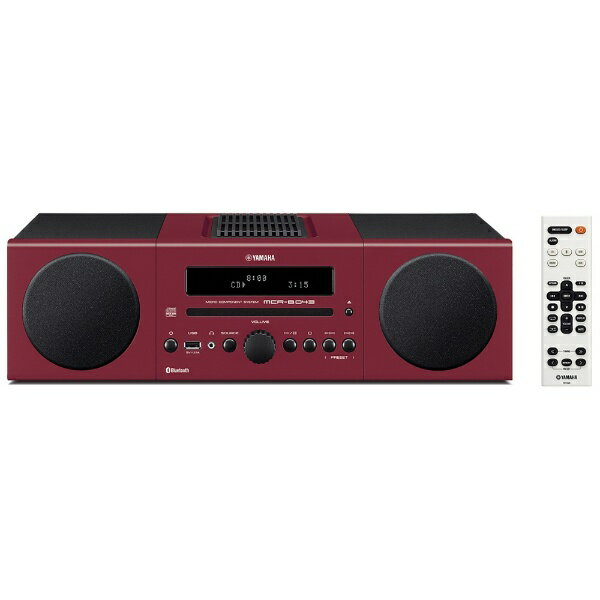 ヤマハ YAMAHA 【ワイドFM対応】Bluetooth対応 ミニコンポ(レッド) MCR-B043 R[MCRB043R]
