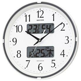 リズム時計 RHYTHM 掛け時計 【フィットウェーブリブ】 シロ 4FYA07SR03 [電波自動受信機能有]