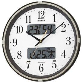 リズム時計 RHYTHM 掛け時計 【フィットウェーブリブ】 茶 4FYA07SR06 [電波自動受信機能有][4FYA07SR06]