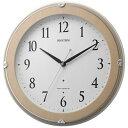 【送料無料】 リズム時計 電波掛け時計 「ピュアライトマーロン」 8MYA23SR13