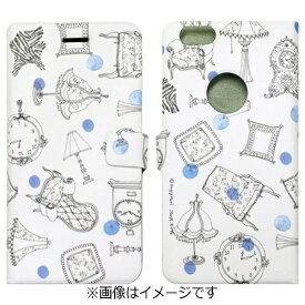 ROA ロア iPhone 6s/6用 手帳型 French Cafe Diary ブルー Happymori HM6645iP6S