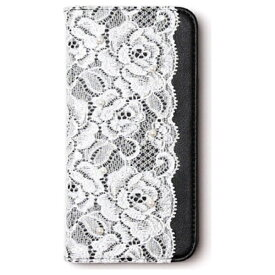ROA ロア iPhone 6s/6用 手帳型 Lace diary ブラック abbi AB6651iP6S