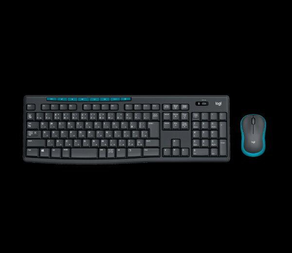 ロジクール ワイヤレスキーボード[2.4GHz USB・Win/Chrome]&マウス Wireless Combo (108キー・ブラック) MK275