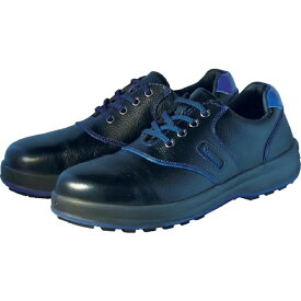 シモン Simon 安全靴 短靴 SL11-BL黒/ブルー 25.0cm SL11BL25.0