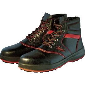 シモン Simon 安全靴 編上靴 SL22-R黒/赤 25.0cm SL22R25.0