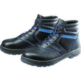 シモン Simon 安全靴 編上靴 SL22-BL黒/ブルー 25.0cm SL22BL25.0