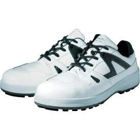 シモン Simon 安全靴 短靴 8611白/ブルー 24.0cm 8611WB24.0