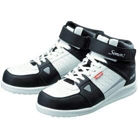 シモン Simon 安全スニーカー 編上靴 紐 NS322ホワイト 25.0cm NS322W25.0