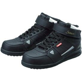 シモン Simon 安全スニーカー 編上靴 紐 NS322ブラック 25.0cm NS322B25.0