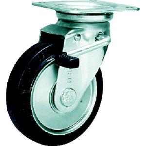 シシクアドクライス SISIKU スタンダードプレスキャスター ゴム車輪 自在ストッパー付 100径 WJB100