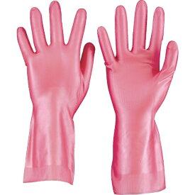 トラスコ中山 天然ゴム手袋 中厚手タイプ ピンク Mサイズ DPM5494PM