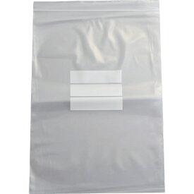 トラスコ中山 チャック付ポリ袋 (白枠付き) 0.08mm厚 340×240mm TCBWJ8TM (1袋100枚)