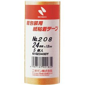 ニチバン NICHIBAN 紙粘着テープ 208H-24 208H24 (1パック5巻)