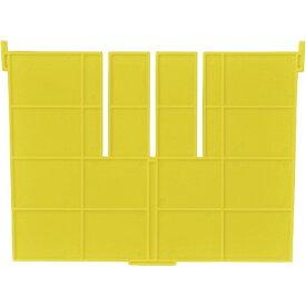 DICプラスチック ディーアイシープラスチック F型コンテナF-17用短手用仕切板 外寸:243×183 黄 F17S