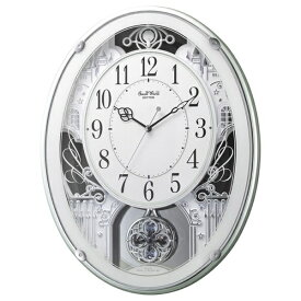 リズム時計 RHYTHM 掛け時計 【スモールワールドプラウド】 緑 4MN523RH05 [電波自動受信機能有]